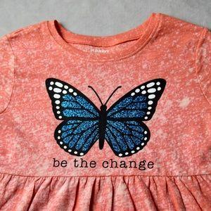 Cust. Toddler Be The Change Butterfly/Bleach Dress